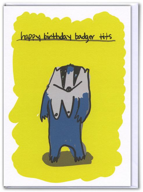 Badger Tits Card