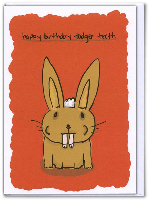Todger Teeth Card