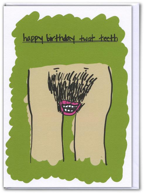 Twat Teeth Card