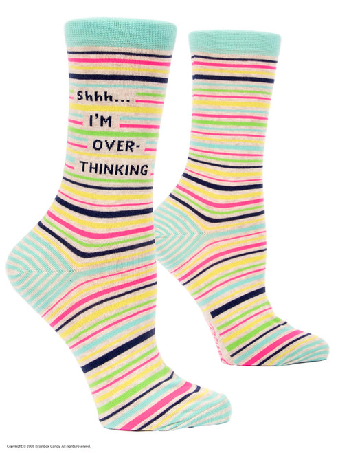 Shhh I'm Overthinking Socks