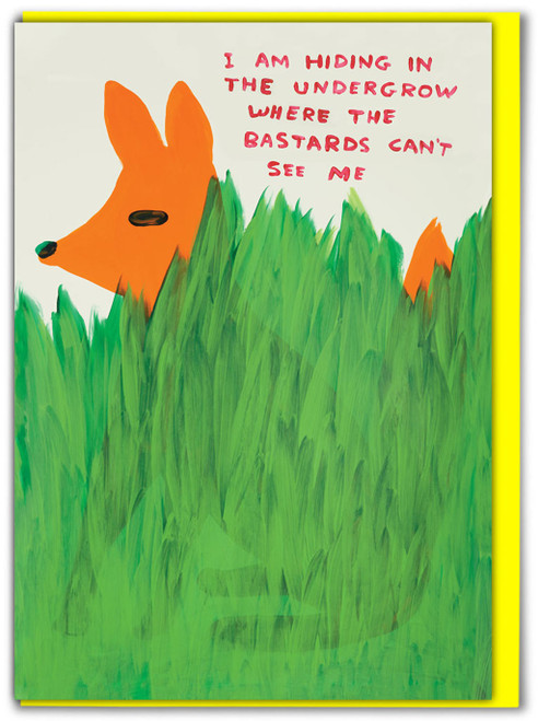 David Shrigley Bastards Can't See Me Greetings Card