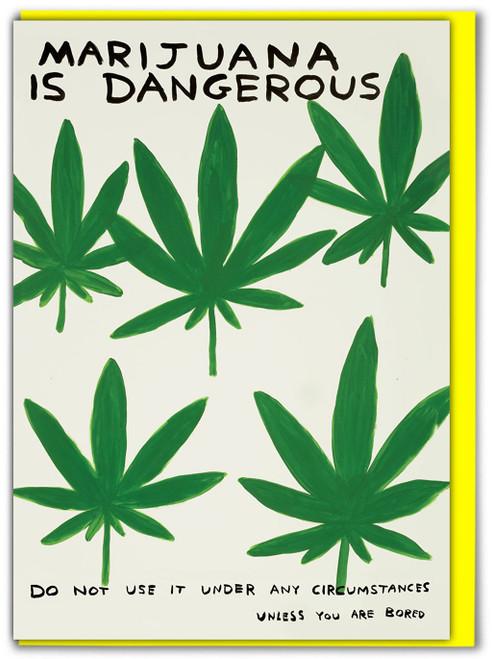 David Shrigley Marijuana Greetings Card