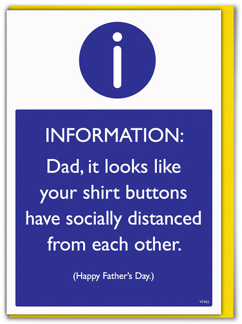 Socially Distanced Buttons Father's Day Card