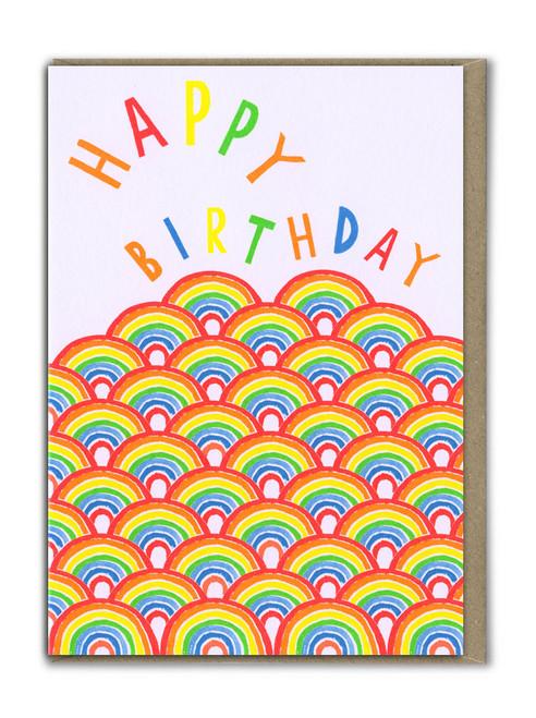 Fab Neon Birthday Rainbow Card