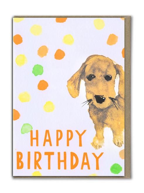 Fab Neon Birthday Dog Card