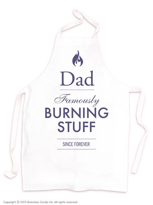 Dad Burning Stuff  Apron