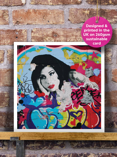 Street Art | Graffiti | Amy Winehouse Mural Blank Greeting Card
