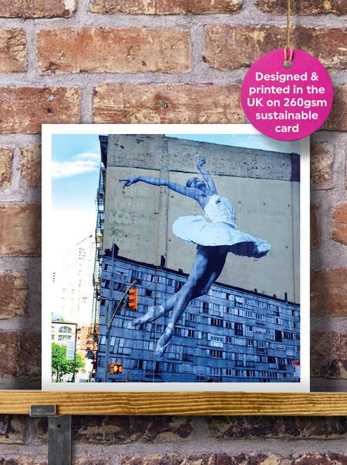 Street Art | Graffiti | Ballerina Mural Blank Greeting Card