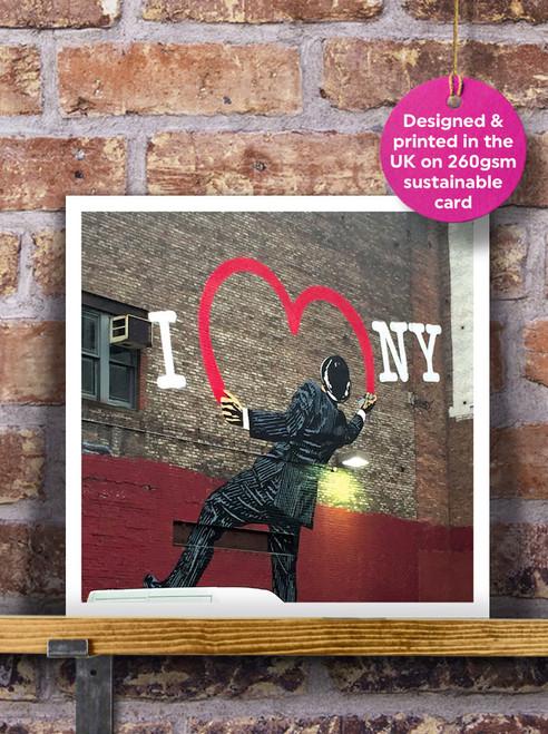Street Art | Graffiti | I Love NY Mural Blank Greeting Card