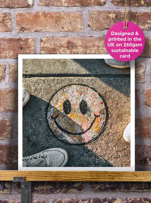 Street Art | Graffiti | Smiley Blank Greeting Card