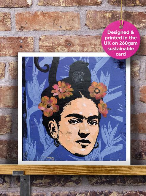 Street Art | Graffiti | Frida Kahlo Mural Blank Greeting Card