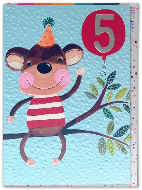 Age 5 Birthday Card Monkey