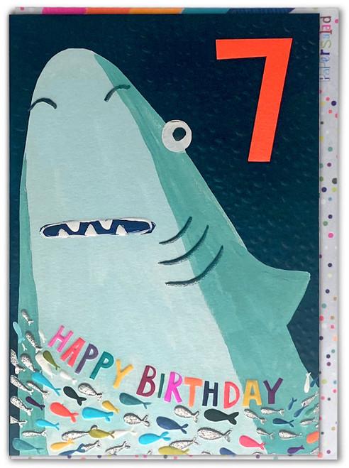 Age 7 Birthday Card Shark
