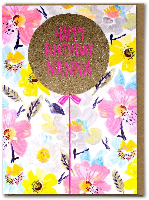 Happy Birthday Nanna Card