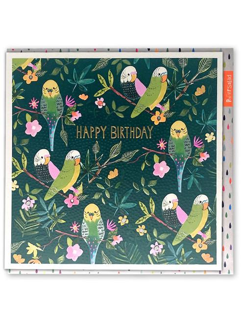 Happy Birthday Budgies Card
