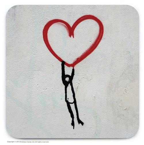 Hold On Heart Street Art Graffiti Coaster