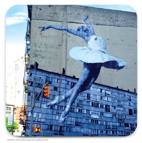 Ballerina Street Art Graffiti Coaster