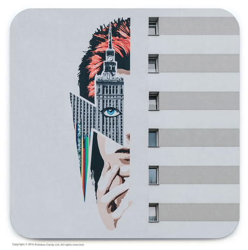 Bowie Street Art Graffiti Coaster
