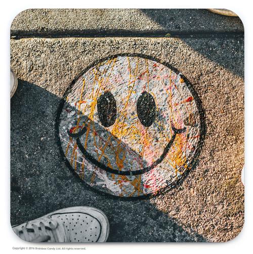 Smiley Street Art Graffiti Coaster