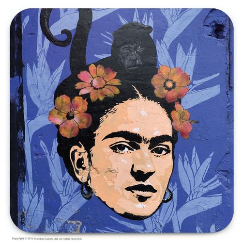 Frida Kahlo Street Art Graffiti Coaster