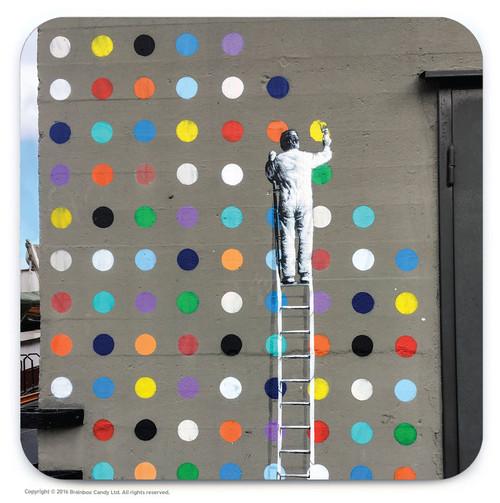 Dot Painter Street Art Graffiti Coaster