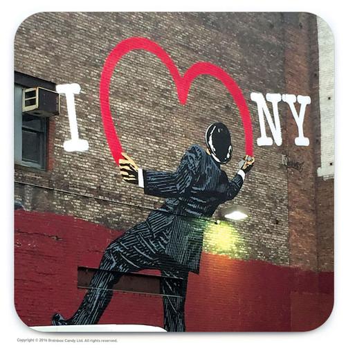 I Love NY Street Art Graffiti Coaster