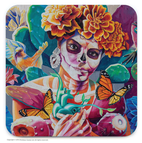 La Catrina Street Art Graffiti Coaster