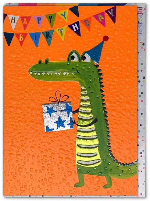 Crocodile Happy Birthday Card