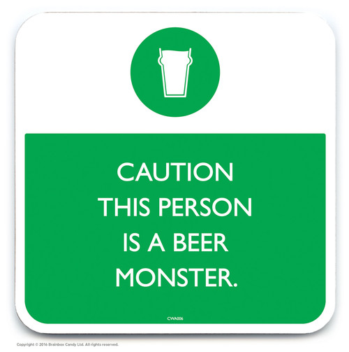 This Person Is A Beer Monster Coaster