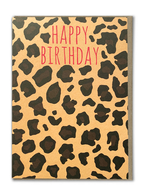 Leopard Print Happy Birthday Card