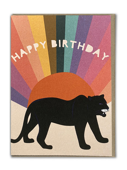Panther Birthday Card
