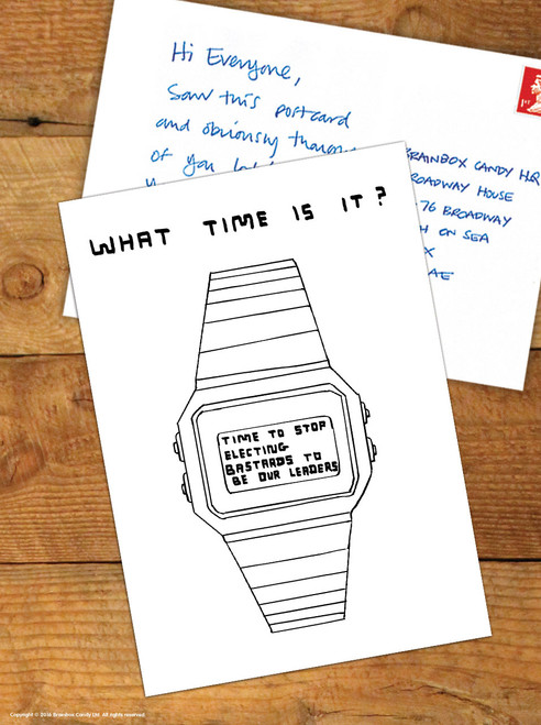 David Shrigley What Time Is It? Postcard