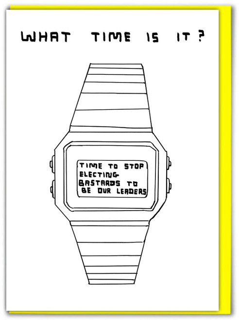 David Shrigley What Time Is It? Greetings Card