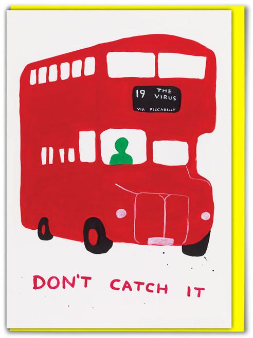 David Shrigley Virus Bus Greetings Card