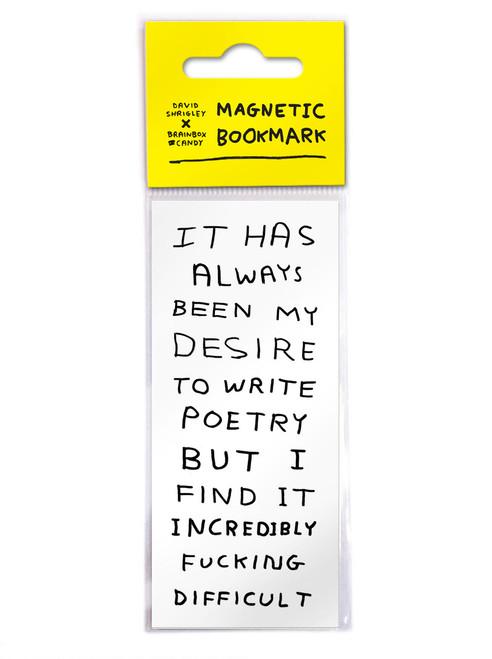 David Shrigley Write Poetry Magnetic Bookmark