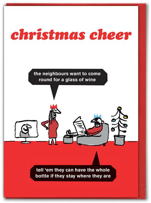 Christmas Cheer Wine Card