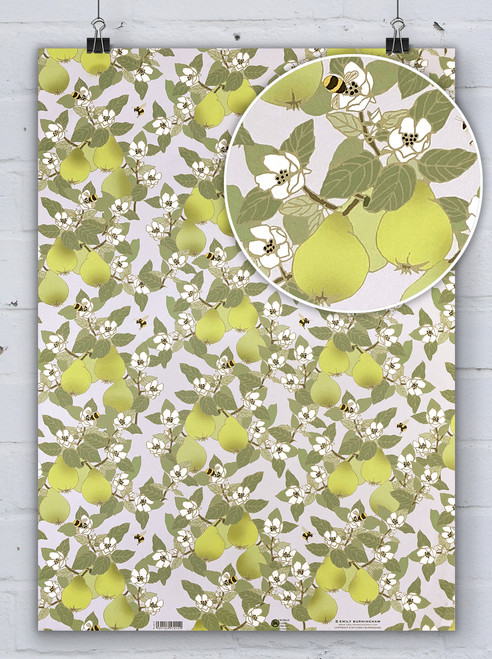 Quince With Bees - Emily Burningham Gift Wrap