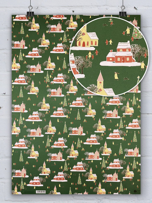 Winter Village - Emily Burningham Xmas Gift Wrap