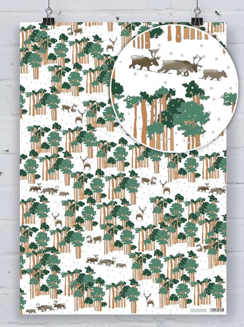 Caribou - Emily Burningham Xmas Gift Wrap