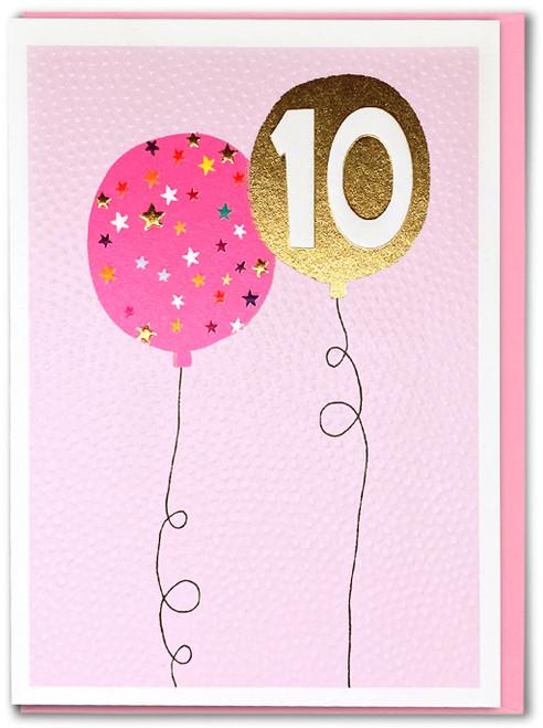 Age 10 Girl Birthday Card