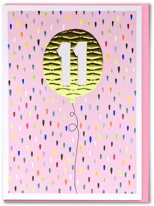 Age 11 Girl Birthday Card