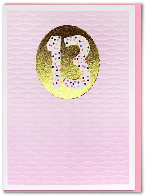 Age 13 Girl Birthday Card