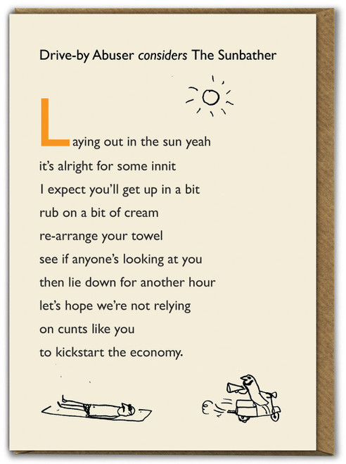 Drive By Sunbather Card