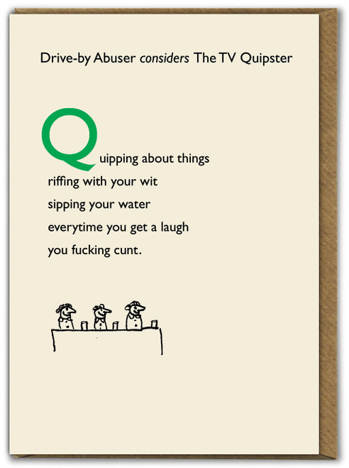 Drive By TV Quipster Card