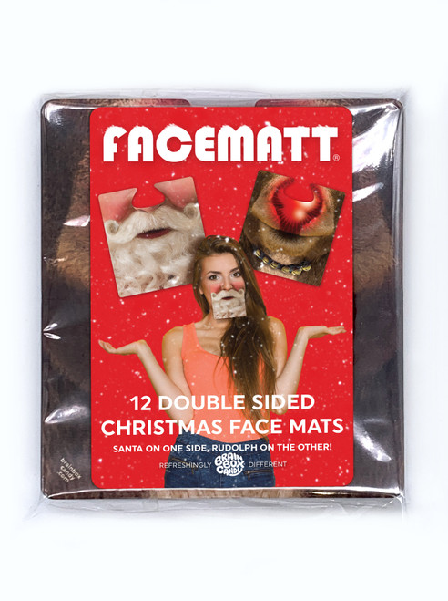 Pack of 12 double sided Christmas Facemats