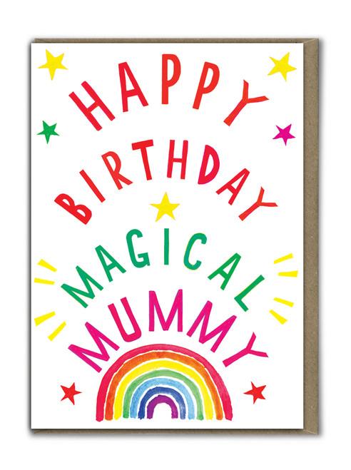 Neon Happy Birthday Mummy Card
