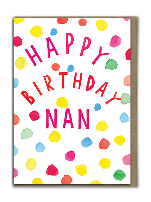 Neon Happy Birthday Nan Card