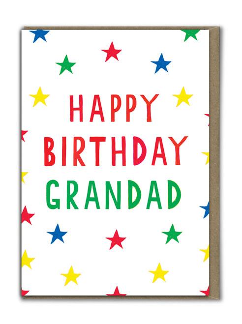 Neon Happy Birthday Grandad Card