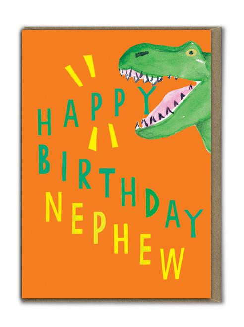 Neon Happy Birthday Nephew Card