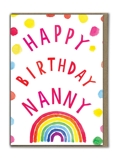 Neon Happy Birthday Nanny Card